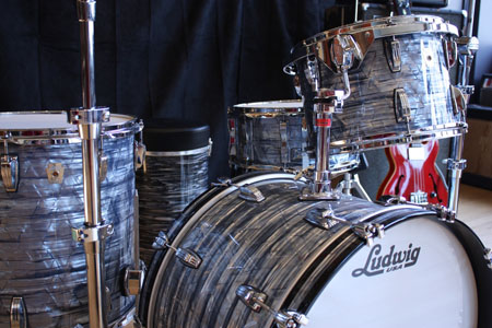 Buy A Ludwig Classic Maple Fab 4 Kit In Sky Blue Pearl