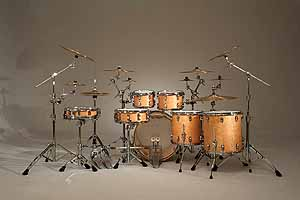 ludwig atlas pro hardware on legacy exotic drum shell pack
