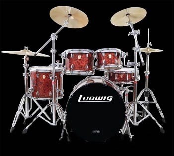 discount prices on ludwig clasic maple fast 5 and 2 up 2 down drums.