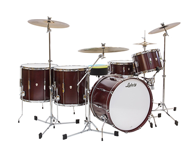 ludwig club date cherry satin drum kit