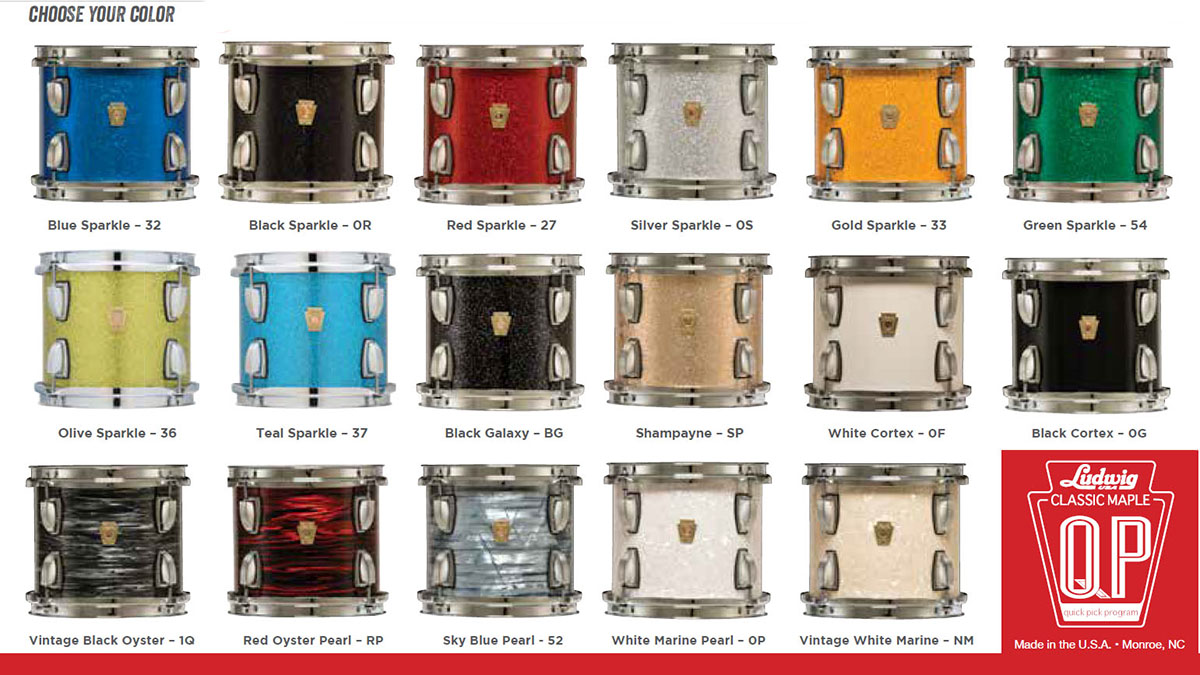 ludwig classic maple quick pick color options
