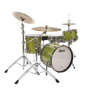 ludwig classic maple qick pick downbeat drum in olive sparkle