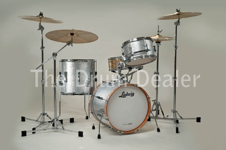 new ludwig club date Jazette shell pack in silver sparkle for sale