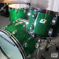 2017 visalite green sparkle drum kit for sale